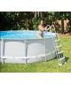 bezpieczna drabinka basenowa 132cm z podestem